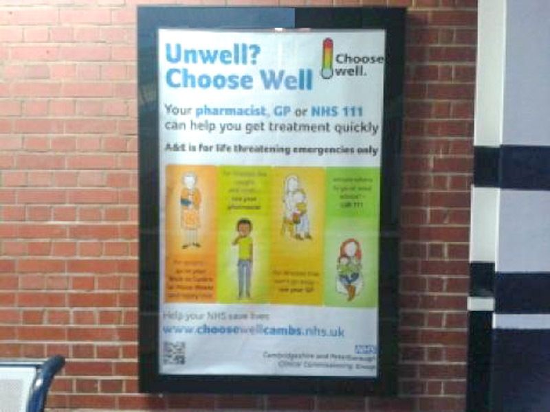 NHS Cambs Cambridge Station Plat 2